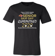 BELLA+CANVAS ®Unisex Black Short Sleeve Tee with SOUTH Senior 2020 Quarantined Logo - SHIPPING INCLUDED