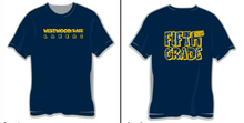 Example of previous year's t-shirt.  Names will be typed in this year in the FIFTH GRADE on Back.