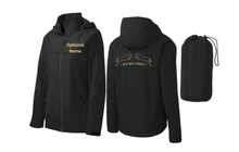 Port Authority® (Ladies) Torrent Waterproof Jacket (BLACK) with Wild Rose Embroidered Logo Large on Back