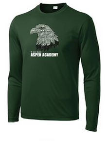 Forest Green Long Sleeve Performance Shirt with Aspen Eagle Logo