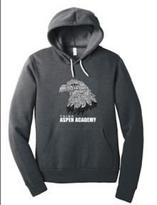 Deep Heather Grey BELLA+CANVAS ® Unisex Sponge Fleece Pullover Hoodie with Eagle Logo