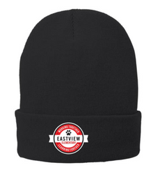 Fleece-Lined Knit Cap (BLACK or WHITE) with EASTVIEW  embroidered logo