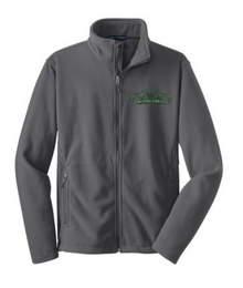 Port Authority® (YOUTH) Fleece Jacket (Iron Grey) with Wild Rose Embroidered Logo Left Chest