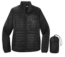 Port Authority® Ladies Packable Puffy Jacket (BLACK) with Wild Rose Embroidered Logo Left chest