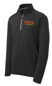 Sport-Tek® Sport-Wick® Unisex Textured 1/4-Zip Pullover  (BLACK) with left chest South Choir embroidered logo
