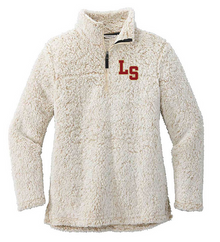 05 Port Authority® Ladies Cozy 1/4-Zip Fleece (OATMEAL HEATHER) with Left Chest Embroidered LS Logo