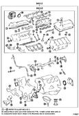 Gasket Set- Toyota Tacoma, Tundra V6 4.0L 1GR-FE (2004-2016) OEM Full Gasket Set  04111-0P071