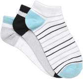 Nurse Mates Silvadur(R) Anti-Mcrobl anklet 3pk Socks