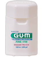 Gum Fine Unwaxed Unflavored Floss - 200yds