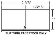 10005848 Zebra Z-Select 4000T 2.38x1 Paper Label 6/Case | 10005848