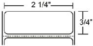 800622-075 Zebra Z-Select 4000T 2.25x0.75 Paper Label 4/Case | 800622-075