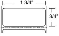 10011694 Zebra Z-Ultimate 3000T White 1.75x0.75 Synthetic Label 4/Case   10011694