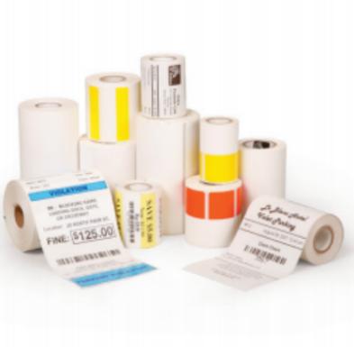 Zebra Receipt Paper, 3 14in x 40ft, Direct Thermal, Z-Select 4000D 3 2 mil,  0 4 in core, 36 Rolls/Carton