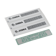 Zebra Specialty RFID Label, 3.94 X 1.57in (100.1x39.9mm); Printable White PET, High Performance Acrylic Adhesive, 3in (76.2mm) core, 928MHz, 500/roll, 1/box, Plain