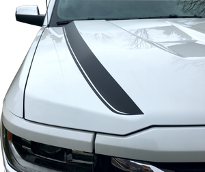 Hood Spear Stripes 2016 2017 Silverado