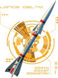 North Coast Rocketry Flying Model Rocket Kit Lance Delta