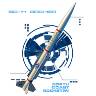 North Coast Rocketry Flying Model Rocket Kit SA-14 Archer  NCR 03