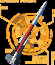 North Coast Rocketry Flying Model Rocket Kit Laser Hawk  NCR 05