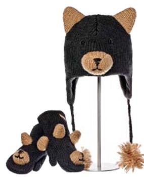 BLACK BEAR HAT ADULT