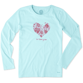 WMNS L/S V LOVE GROW FLOWER