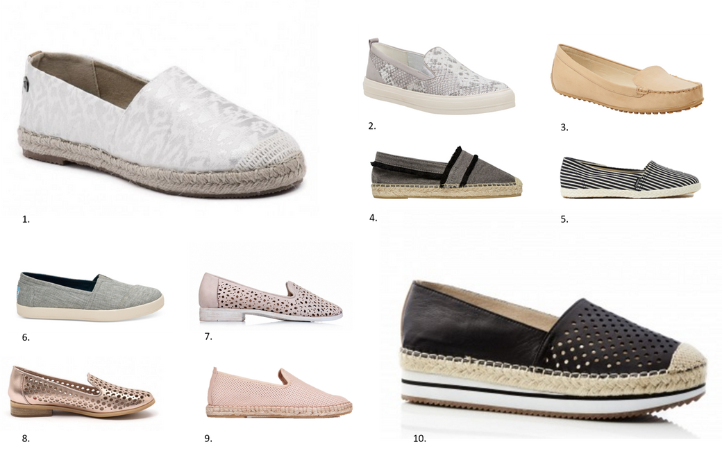 Espadrilles and Loafers – capsule wardrobe shoe essentials
