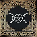"Altar Cloth Triple Moon Pentagram 24""x24"""