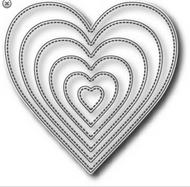 Tutti Designs Nesting Stitched Hearts Die (Tutti-216)