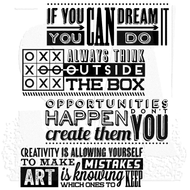 Tim Holtz Cling Rubber Stamp Motivation 1 (CMS289)