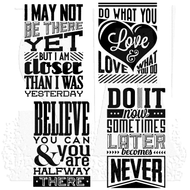 Tim Holtz Cling Rubber Stamp Motivation 3 (CMS291)