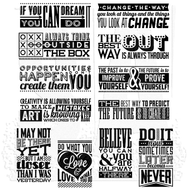 Tim Holtz Cling Rubber Stamp Mini Motivation (CMS292)