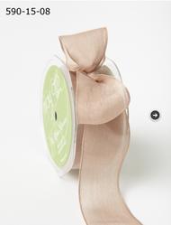 """May Arts - Soft Semi-Sheer Ribbon 1.5"""" - Taupe"""