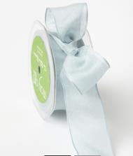 "May Arts - Soft Semi-Sheer Ribbon 1.5"" - Light Blue"