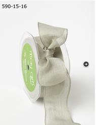 """May Arts - Soft Semi-Sheer Ribbon 1.5"""" - Olive"""