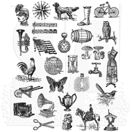Tim Holtz Cling Rubber Stamp Tiny Things 2 (CMS305)