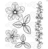 Heartfelt Creations Classic Petunia Large Classic Petunia Cling Rubber Stamp Set (HCPC-3786)