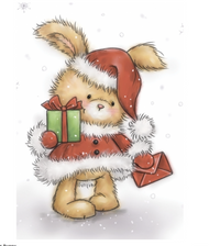 Wild Rose Studio - Christmas Bunny Clear Stamp