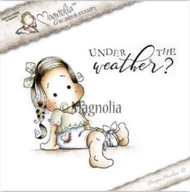 Magnolia Stamps - Get Well - Tilda With Heart Pants/Text