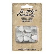 Tim Holtz Idea-Ology Gumdrops Hearts, Clear