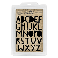 Tim Holtz Idea-ology Cling Foam Stamp Cutout Uppercase Alphabet