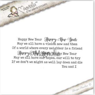 Magnolia Stamps You Are Invited - Happy New Year Text