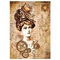 Stamperia - Rice Paper Napkin Packed- Steampunk Woman with Hat