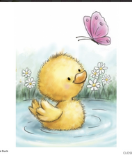 Wild Rose Studio - Little Duck Clear Stamp (CL513)