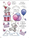 Wild Rose Studio - A5 Stamp - Bella's Party 2 (AS007)