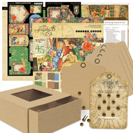 Graphic 45 Club Kit - Little Women Mini Album, Box and Card (ClubKit-3)
