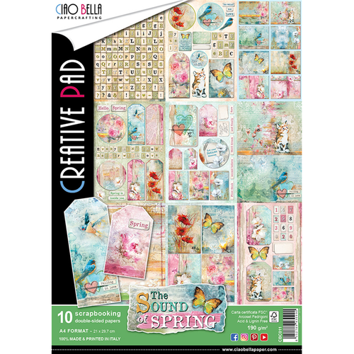 Ciao Bella - The Sound Of Spring - A4 Creative Pad