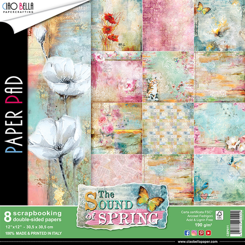 Ciao Bella - The Sound Of Spring - 12 x 12 Paper Pad