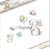 Magnolia Stamps Tilda In Wonderland - Rabbit With Butterflies