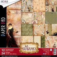 Ciao Bella - La Traviata - 12 x 12 Scrapbooking Paper Pad