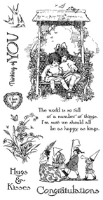 Graphic 45 - Children's Hour - Cling Stamp 1 (ICO35S)