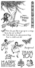 Graphic 45 - Children's Hour - Cling Stamp 2 (ICO351S)